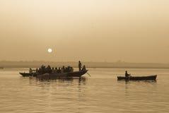 Mening van de Ganges royalty-vrije stock foto