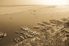 Mening van de Ganges stock afbeelding