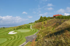 Mening van de golfcursus Stock Foto