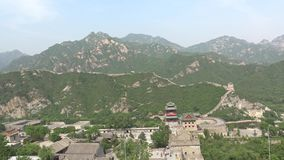 Mening van de Grote Muur van China Stock Afbeelding