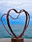 Mening van de harten van de Zwarte Zee en van het ijzer Stock Foto's