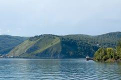 Mening van de haven Baikal en een mond van Angara Stock Afbeelding