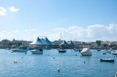 Mening van de haven van Sliema, Malta Royalty-vrije Stock Afbeelding