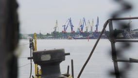 Mening van de haveninfrastructuur stock footage