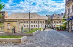 Mening van de Herberg van Manuc (Hanul-lui Manuc) in Boekarest royalty-vrije stock afbeeldingen