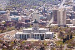 Mening van de het Capitoolbouw van Utah in Salt Lake City Royalty-vrije Stock Foto