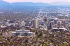 Mening van de het Capitoolbouw van Utah tijdens dagtijd Royalty-vrije Stock Fotografie