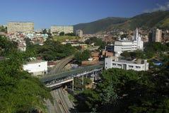 Mening van de heuvel die Paleis Miraflores onder ogen ziet Stock Afbeelding