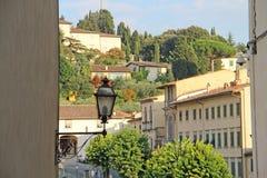 Mening van de heuvel in Fiesole, Italië Stock Afbeeldingen