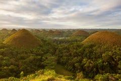 Mening van de Heuvels van de Chocolade filippijnen Stock Afbeeldingen
