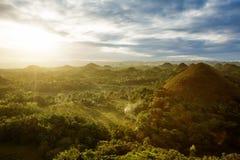 Mening van de Heuvels van de Chocolade filippijnen Royalty-vrije Stock Afbeeldingen