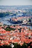 Mening van de historische districten van Praag Stock Foto's
