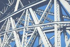 Mening van de historische stad van Porto, Portugal met de Dom Luiz-brug Royalty-vrije Stock Fotografie