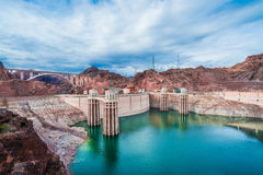 Mening van de Hoover-Dam Royalty-vrije Stock Afbeelding