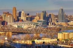 Mening van de horizon van Cincinnati stock afbeeldingen