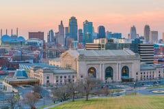 Mening van de horizon van Kansas City in Missouri stock fotografie