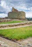 Mening van de Inca-ruïnes van Ingapirca Royalty-vrije Stock Foto