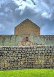 Mening van de Inca-ruïnes van Ingapirca Royalty-vrije Stock Foto's