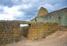 Mening van de Inca-ruïnes van Ingapirca Royalty-vrije Stock Fotografie