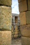 Mening van de Inca-ruïnes van Ingapirca Stock Afbeelding