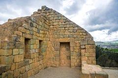 Mening van de Inca-ruïnes van Ingapirca Stock Fotografie