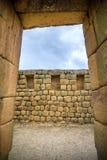 Mening van de Inca-ruïnes van Ingapirca Royalty-vrije Stock Afbeelding