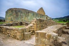 Mening van de Inca-ruïnes van Ingapirca Stock Foto's