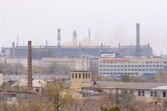 Mening van de industriezone van de fabriek Stock Foto's