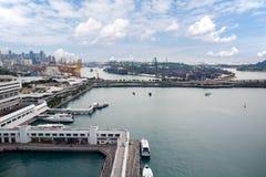 Mening van de industriezones van Singapore Stock Foto