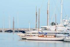 Mening van de jachthaven Royalty-vrije Stock Afbeeldingen