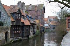 Mening van de kanalen van Brugge #2 Royalty-vrije Stock Afbeeldingen