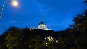 Mening van de kathedraal van Madrid royalty-vrije stock afbeelding