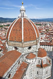 Mening van de Kathedraal Santa Maria del Fiore in Florence, Italië Stock Foto's