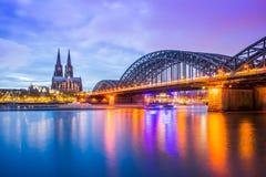 Mening van de Kathedraal van Keulen in Keulen, Duitsland Stock Foto's