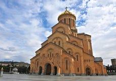 Mening van de kathedraal van Tbilisi Royalty-vrije Stock Afbeeldingen