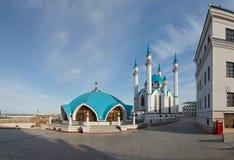 Mening van de Kazan het Kremlin moskeekathedraal col.-Sharif Royalty-vrije Stock Fotografie