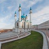 Mening van de Kazan moskeekathedraal col.-Sharif Stock Fotografie