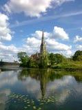 Mening van de Kerk in Europa Royalty-vrije Stock Fotografie