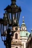 Mening van de Kerk van St Nicholas Praag, Tsjechische Republiek Stock Afbeelding