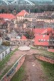 Mening van de kleurrijke oude daken Stock Fotografie