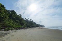 Mening van de klip op de kust Stock Afbeeldingen