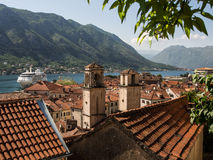 Mening van de Kotor de oude stad Royalty-vrije Stock Foto