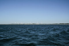 Mening van de kust Darlowek Stock Foto