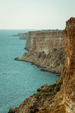 Mening van de kust en het overzees Stock Foto