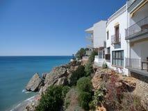 Mening van de kust in Nerja, Spanje Royalty-vrije Stock Fotografie