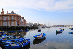 Mening van de kust van Bari, Italië Royalty-vrije Stock Afbeelding