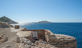 Mening van de kust van Marseille in Zuid-Frankrijk Stock Foto's
