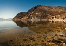 Mening van de kust van Meer Baikal Royalty-vrije Stock Fotografie