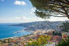 Mening van de kust van Napels, Italië Royalty-vrije Stock Afbeeldingen