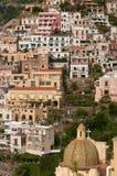 Mening van de Kust van Positano Amalfi Stock Foto's